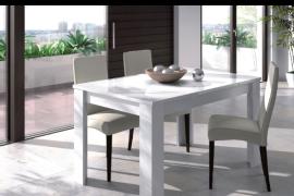 mesa de comedor blanco brillo Ambiente