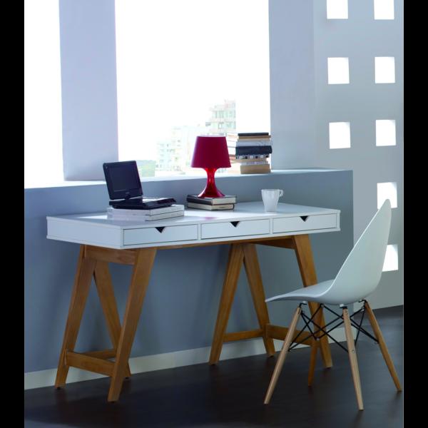 Mesa escritorio modelo Gaudi con 3 cajones