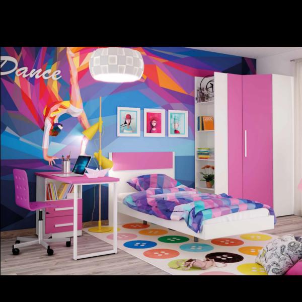 Dormitorio juvenil con mesa estudio Dean-17
