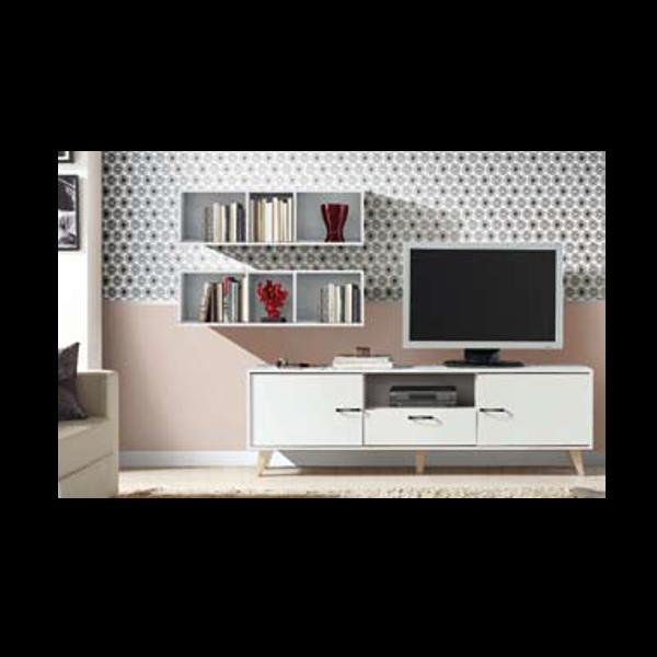 Mueble bajo tv modelo georgia fifty con patas - Mueble bajo salon ...