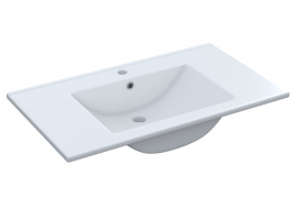Lavabo de cerámica blanco medida 80x45