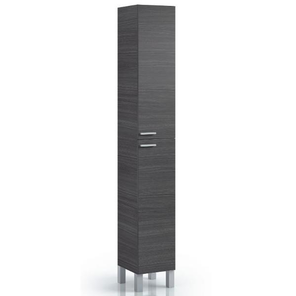 Columna para ba o amara gris ceniza for Columna almacenaje bano