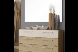 Comoda 4 cajones Luxe con espejo. Programa Urban de Muebles Azor