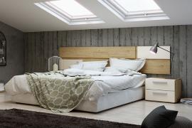 Dormitorio Urban 03 acabado Bambu-Arena cuir