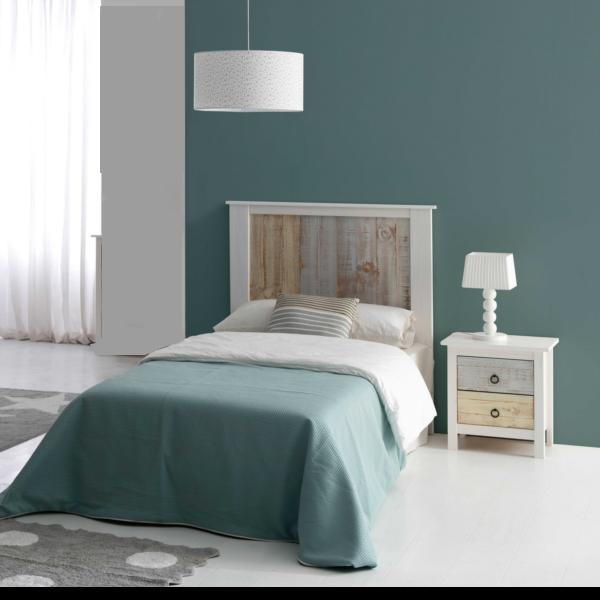 Dormitorio Juvenil Flora acabado blanco-multicolor