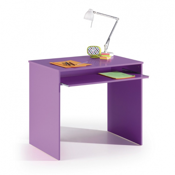 Mesa escritorio con estante Joy color lila modelo I-Joy