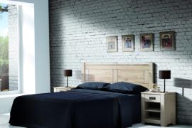 Dormitorio rustico acabado blanco lavador. Madera maciza