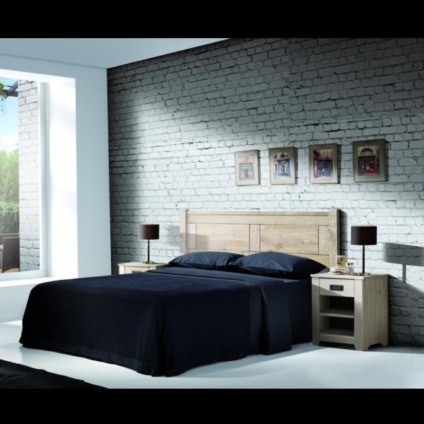 Dormitorio Matrimonio Rustico Blanco : Dormitorio rústico modelo niza blanco lavado kitmuebles.com