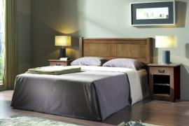 Dormitorio rústico madera color nogal rustico