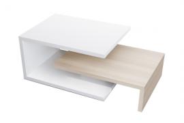 Mesa centro fija modelo U acabado blano combinado color nórdico