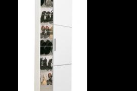 armario Zapatero estrecho ZA1150-acabado blanco, interior varillas