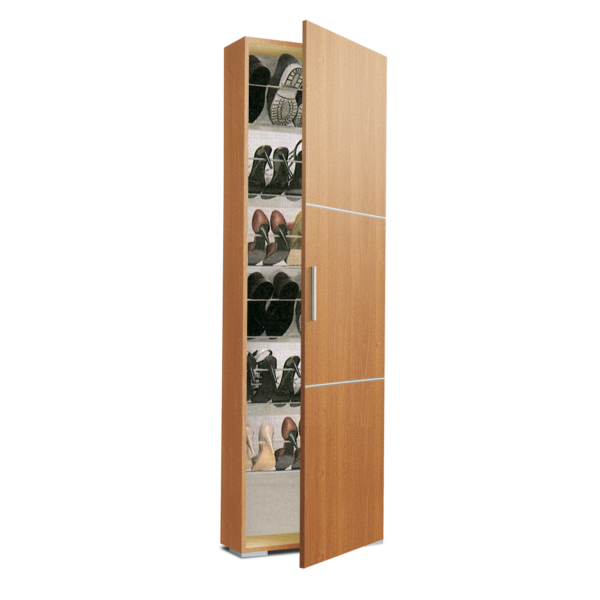 armario zapatero estrecho za1150 acabado cerezo