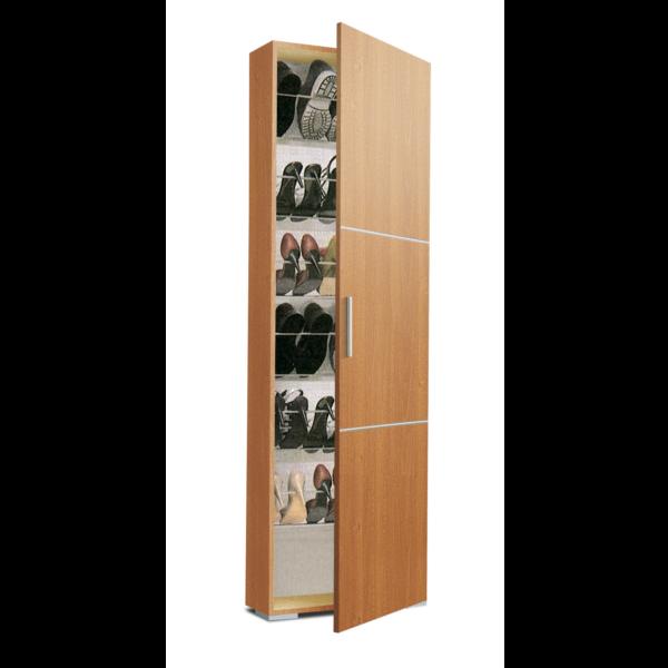 Armario zapatero estrecho za1150 acabado cerezo for Interior armario zapatero