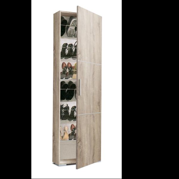 armario Zapatero estrecho ZA1150 acabado roble cambrian, interior varillas