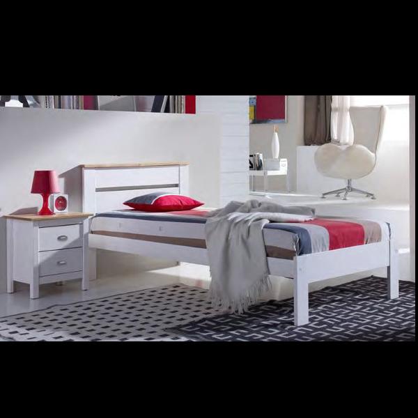 Dormitorio juvenil jade blanco roble for Muebles dormitorio blanco y roble