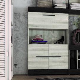 Mueble Bar Sidney acabado coral-ebony de Muebles Azor