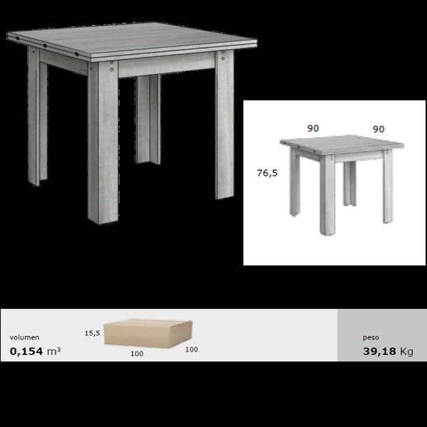 Mesa de comedor modelo sidney 90x90 libro - Mesa cuadrada de comedor ...