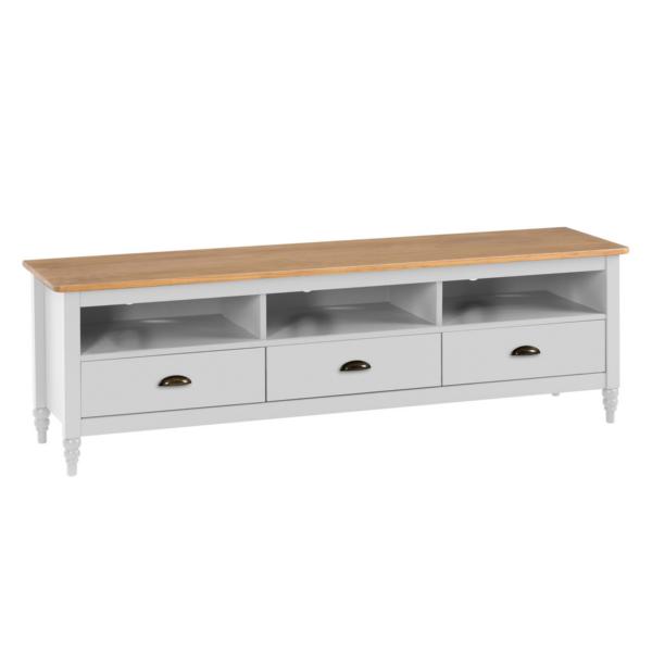 Mueble Tv Joyce acabado blanco combinado color cera