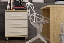 Mesita 3 cajones con ruedas de Muebles Azor programa Yoko