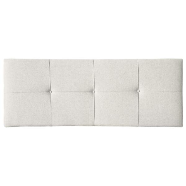 Cabezal tapizado en tela color blanco