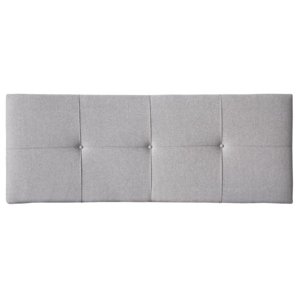 Cabezal tapizado en tela color gris