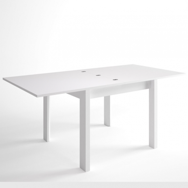 Mesa cuadrada malmo extensible blanco for Mesa cuadrada extensible