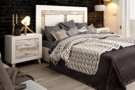 Dormitorio Jordan 221 acabado Soul Blanco combinado con Vintage y tirador Asa blanco