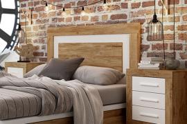 Dormitorio Jordan 222 cabecero con 2 mesitas de 3 cajones