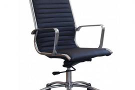 silla de oficina Tilma negro respaldo alto