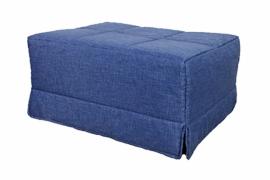 Pouf cama individual color azul