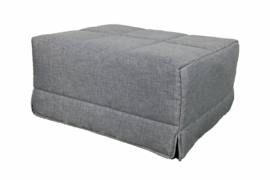 pouf cama individual color gris