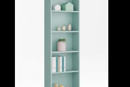 Estanteria verde aqua modelo I-Joy con estantes fijos