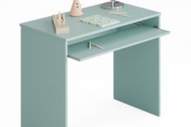 mesa escritorio azul I-Joy del programa Kids con bandeja extraible y acabado color verde aqua