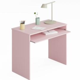 mesa escritorio rosa modelo I-Joy con bandeja extraible del programa Kids