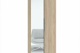 Zapatero 2 puertas con espejo modelo Milano, acabado color sable