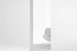 Zapatero alto con espejo modelo Trend acabado blanco