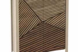 Zapatero Verona 2 puetas con estantes interiores acabado color base roble aserrado