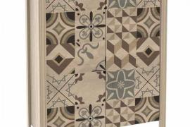 zapatero verono diseño cerámica de 2 puertas. con estantes interiores