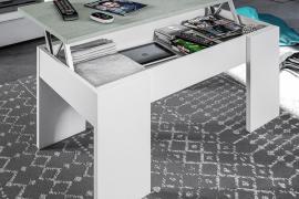mesa centro elevable estilo industrial detalle abierto