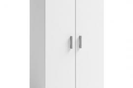 Zapatero blanco 2 puertas con estantes interiores