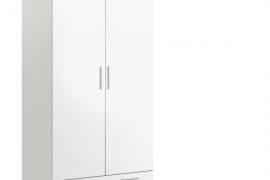 Armario 2 puertas blanco con 1 cajon y frentes acabado color blanco