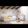 Composición con cama nido blanco roble modelo Lola y la cómoda modelo Jade