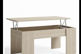 Mesa centro elevable basic abierta, acabado sable