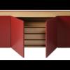Detalle interior aparador arista parte central con los cajones interiores