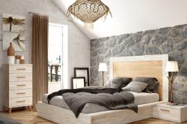Dormitorio Sax 001 acabado Okume-Bambu