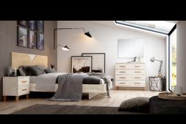 Dormitorio sax 007 acabado Okume-bambu