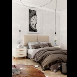 Dormitorio Sax 008 acabado Okume con cabezal tapizado