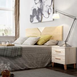 Dormitorio Sax 017 acabado Okume combinado color Bambú