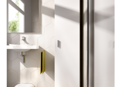 Armario multiusos Fit 1 puerta acabado blanco con estantes interiores y con patas antihumedad regulables en altura