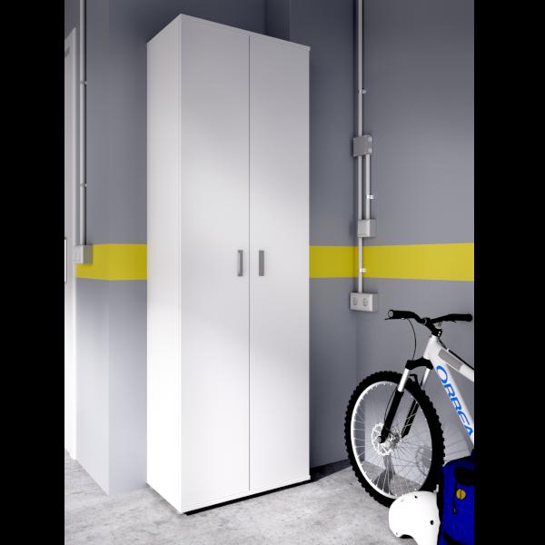 Armario multiusos fit 2 puertas con estantes